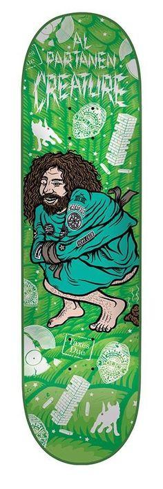 Creature Al Partanen Psych Ward Skateboard Deck