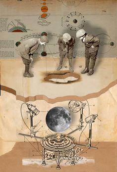 "Saatchi Art Artist: Franz Falckenhaus; Digital 2012 Collage ""Opertus Lunula Umbra"""