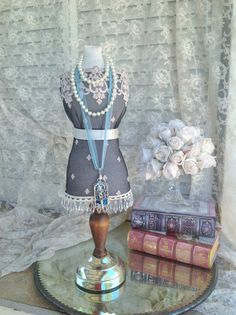 Mannequin Stand Mini Dress Form DisplayJewelry Stand Fabric Bust