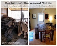 The Great Indoors: Our Reclaimed Barnwood Table