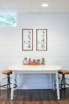 A DIY tutorial for creating handmade flash card wall art for a fraction of the price! - http://www.littlehouseoffour.com