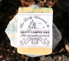 Lemongrass natural soap bars, Insect repellent, Hiking Gear, Happy Camper Soap, Camping gear, Homemade Soap, Lemongrass Essential Oil