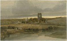 Kirkstall Abbey, Yorkshire: Evening Thomas Girtin (1801)