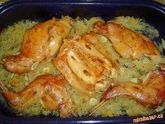 Králík na zelí | Mimibazar.cz Lamb, Shrimp, Pasta, Chicken, Meat, Recipes, Rabbit, Food, Bunny
