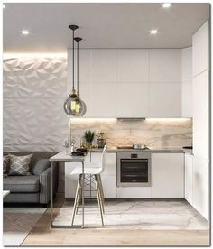 20 Inspiring Kitchen Cabinet Colors and Ideas That Will Blow You Away Modern Kitchen Design blow Cabinet colors Ideas Inspiring Kitchen kitcheni Apartment Kitchen, Living Room Kitchen, Apartment Interior, Home Decor Kitchen, Kitchen Ideas, Kitchen Tips, Modern Farmhouse Kitchens, Farmhouse Style Kitchen, Home Kitchens