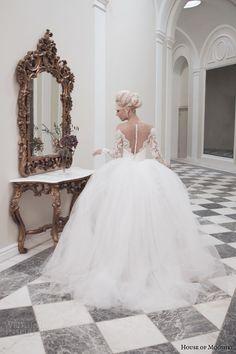 house of mooshki bridal autumn 2014 juliette lace pencil skirt detachable tulle train back