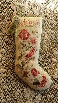 My Sometimes Cross Stitching Obsession Owl Embroidery, Eyebrow Embroidery, Christmas Embroidery, Cross Stitch Embroidery, Embroidery Designs, Cross Stitch Christmas Stockings, Christmas Cross, Christmas Ornaments, Cross Stitch Samplers
