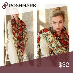 "🍂Vintage Print Scarf Gorgeously unique vintage border floral print scarf. Oversized & cozy! 100% Acrylic. Size 55"" x 55"" Accessories Scarves & Wraps"