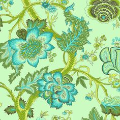 Amy Butler - Soul Blossoms Organic Cotton - Night Tree in Lime Peel