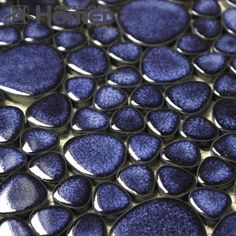 shipping free!! navy blue pebble ceramic mosaic tiles bathroom floor  tiles , HME7006, 11 sq ft/lot-in Mosaics from Home Improvement on Alie...