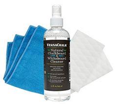 VersaChalk 100% Natural Chalkboard Cleaner Spray & Eraser Kit