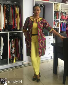 It's really amazing to see how the Ankara African print can be used in designing almost any style you can think of. And as such, Ankara Jacket has become a popular item in the wardrobe of many fashionable ladies & celebrities.So if you are looking for lu African Fashion Ankara, Ghanaian Fashion, Latest African Fashion Dresses, African Dresses For Women, African Print Dresses, African Print Fashion, Africa Fashion, African Attire, African Wear