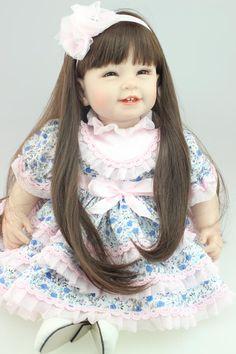 ">> Click to Buy << 22"" New chucky lifestyle Handmade  Princess long hair toddler brinquedods Silicone adora bebe bonecas doll reborn for kids #Affiliate"