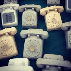 Not so old phones are suddenly vintage and collectable and everywhere. #brimfield