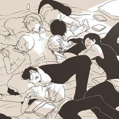 sleeping boys of  SnK AoT Shingeki no Kyojin Attack on Titan