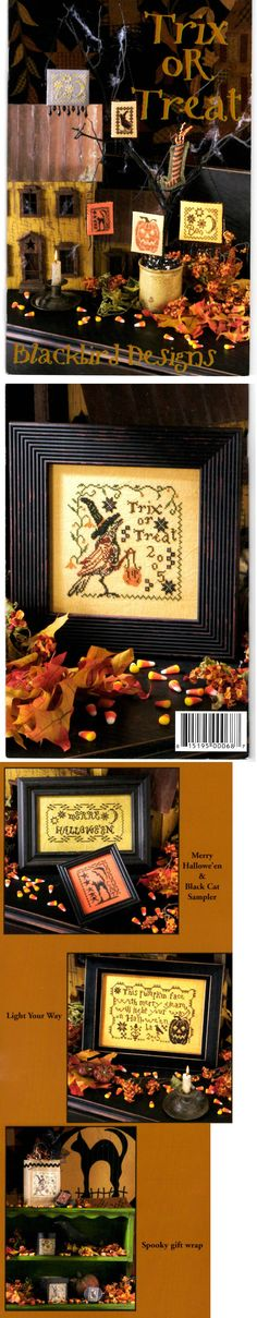 Cross Stitch Patterns 34032: Blackbird Designs Trix Or Treat Counted Cross Stitch Chart 8 Halloween Designs -> BUY IT NOW ONLY: $59.99 on eBay!