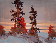 """Late Light, Lake of the Woods"", 2013, Oil on Canvas (14x18 in), by Robert Genn"