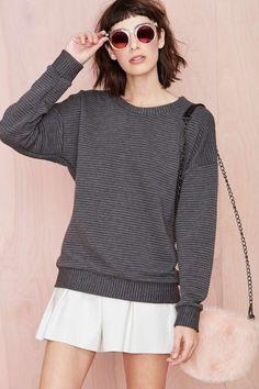 moda de chicas otoño invierno 2014 2015  Fall fashion girls winter 2014 2015 Such a Softie Sweatshirt - Nasty Gal