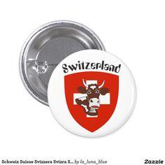 Schweiz Suisse Svizzera Svizra Switzerland Runder Button 15,3 Cm