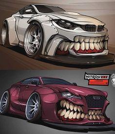 -BMW Or Audi 😱⁉️ Tell us if you like this post. Audi, Bugatti, Lamborghini, Supercars, Cool Car Drawings, Crazy Drawings, Space Opera, Sports Car Wallpaper, Real Steel