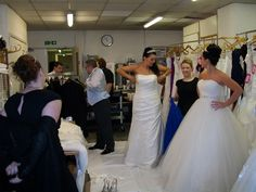 Hilton Hotel Wedding Fayre - backstage, just before the catwalk show