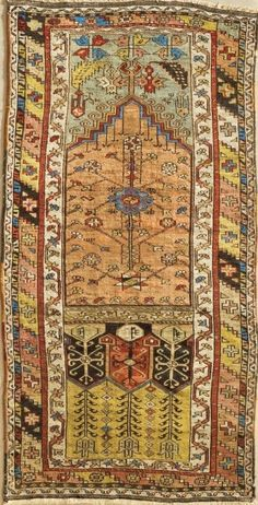 Turkish rug, 199 cm x 100 cm, 2nd half of the 19th century, Pergamon Museum, Islamic Art Museum, Berlin