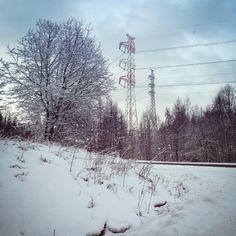 Aha, tuli vähä snögee yöllä.. #tgif #grafter #snow #goodmorning #sunrise #letswork