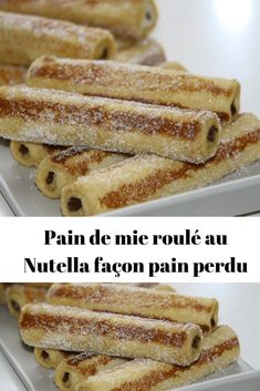 Nutella toast rolls, French toast – Page 2 – All Recipes Easy Cheesecake Recipes, Dessert Recipes, Desserts With Biscuits, Nutella Cake, Chocolate Cookie Recipes, Savoury Cake, French Toast, Sandwiches, Sweet Recipes