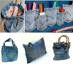 32 Ideas Recycled Old Jeans Project, You will be quite so excited to understand how to upcycle jeans into Denim Jeans Planters to make unique creations for your house. Jeans have long bee. Diy Jeans, Reuse Jeans, Jeans Pants, Jean Crafts, Denim Crafts, Tod Bag, Jean Diy, Jean Purses, Denim Ideas