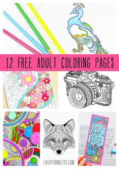 12 Free Adult Coloring Pages Printables On EverythingEtsy