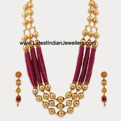 Pearl Ruby Gold Statement Jewellery