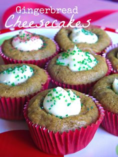 Check out this Mini Gingerbread Cheesecake Cups Recipe if you are looking for a simple Holiday Treat! #holidayrecipes