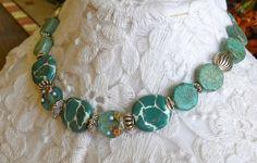 Lampwork Kazuri African Beads Handmade by bdzzledbeadedjewelry Handmade Beaded Jewelry, Unique Jewelry, Beaded Necklace, Beaded Bracelets, African Beads, Beading, Turquoise, Trending Outfits, Handmade Gifts