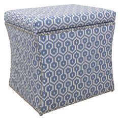 Skyline Furniture Nail Button Storage Ottoman - Jamboree Island | from hayneedle.com