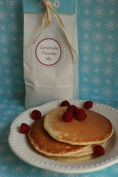 Homemade Pancake Mix - when making the pancakes, just cut down on the amounts