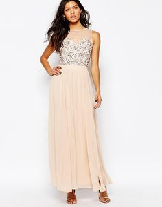 River Island Embellished Bodice Maxi Dress