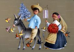 Mexican Style, Illustration, Illustrations, Pastor, Mexican Christmas, Mexican Folk Art