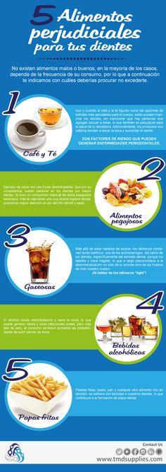 Alimentos perjudiciales para los dientes