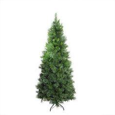6.5' Atlanta Mixed Cashmere Pine Medium Artificial Christmas Tree - Unlit