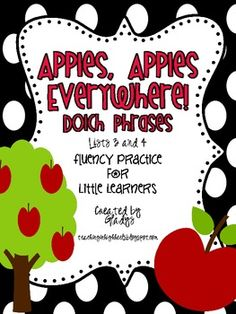 Apples, Apples Everywhere! Dolch Phrases {Lists 3 and 4}