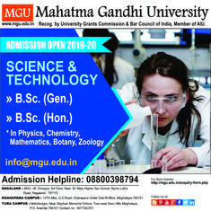 VISIT FOR MORE There is no single way to educate. Michael Gurian For more information click the link below mgu.in/ For General/Admission Enquiry Contact Us: The post MGU University Meghalaya Open Admission 2019 appeared first on Tecnology. College Counseling, Mahatma Gandhi, Zoology, Higher Education, College Life, Botany, Science And Technology, Mathematics, Light In The Dark