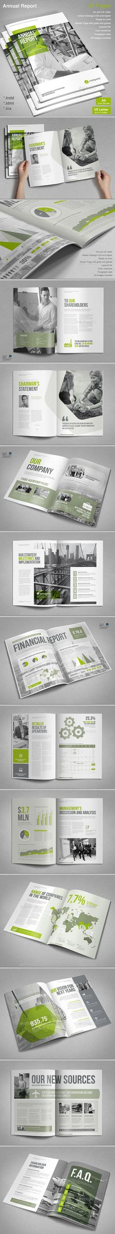 This is a modern and powerful template for a Annual Report.24 pages possibility of creating many unique spreads.