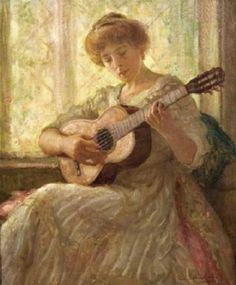 Lee Lufkin Kaula (American artist, 1865–1957) A Quiet Ballad