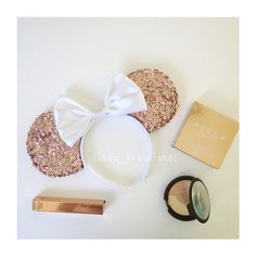 Rose gold mouse ears @linda_kreations ig shop on my etsy shop linda kreations…