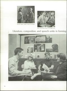 Rob and some of his AP English classmates in lower picture - 1965 Western Hills High School Yearbook via Classmates.com