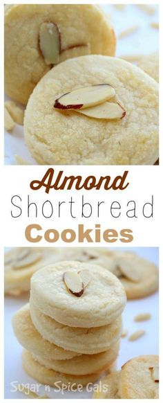 Buttery Almond Shortbread Cookies