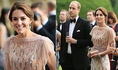 Kate Middleton recycles a Jenny Packham gown at charity gala in Norfolk   Daily Mail Online