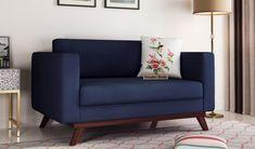 Elegant, beautiful Casper 2 Seater Sofa: best suitable for living room & office use. Buy it from WoodenStreet #fabricsofa #sofaforoffice #receptionsofas