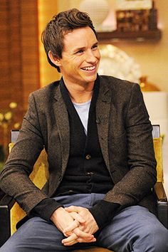 """[In America] when you're in a shop, they're endlessly saying, 'Have a nice day!' I never realized how grumpy we Brits are until now! Now I go around L.A telling people to have nice days."" -Eddie Redmayne"