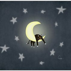 Kitty on the Moon I Love Cats, Cool Cats, Arte Indie, Illustration Art, Illustrations, Sun And Stars, Good Night Moon, Moon Magic, Beautiful Moon